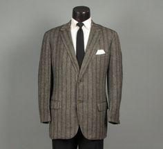 Vintage 1950s Mens Sport Coat  Tweedy Glen by jauntyrooster