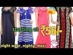 e043c1a03e06 Ladies Nighty, maxi, night wear wholesale market Gandhi nagar, Delhi