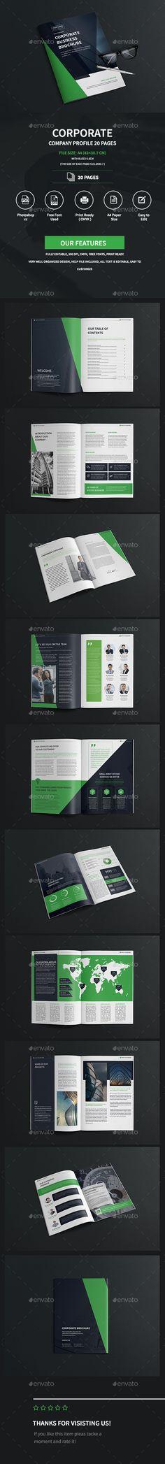 Company Profile Template Company profile, Brochure template and