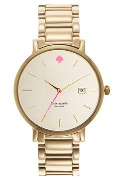 kate spade 'gramercy grand' bracelet watch