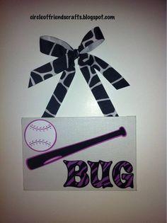 softball cavanas-can make into signs to hang on doors