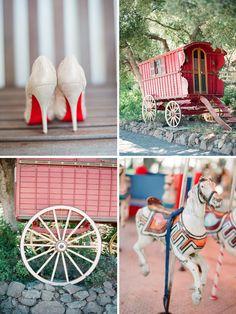 gypsy carnival wedding inspiration - vintage wedding