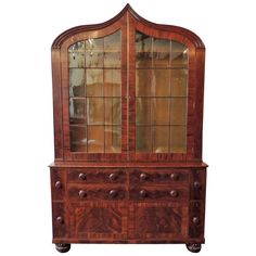 19th Century New Orleans Plantation Bookcase | From a unique collection of antique and modern bookcases at http://www.1stdibs.com/furniture/storage-case-pieces/bookcases/