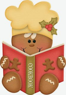 Gingerbread man with cookbook Gingerbread Ornaments, Gingerbread Decorations, Christmas Gingerbread, Christmas Decorations, Gingerbread Houses, Christmas Clipart, Christmas Printables, Christmas Pictures, Christmas Time