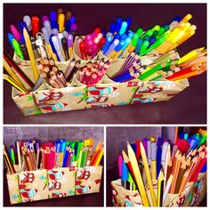 Pencil storage diy box stabilo staedler carioca rotring pen pencil pens pencils draw colours colouring drawing