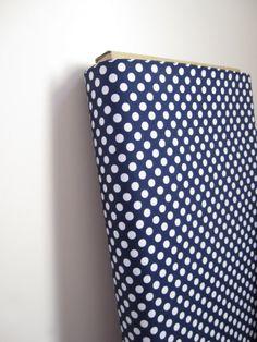 Riley Blake Design's Small Navy Dots Fabric by minimushrooms, $9.00