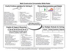 Here's a terrific set of conversation starters for math talk. Teaching Geometry, Teaching Math, Teaching Ideas, Math Teacher, Math Classroom, Teacher Stuff, Math Vocabulary, Maths Algebra, Curriculum