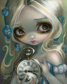 Keeping Up art print by Jasmine Becket-Griffith 8x10 alice in