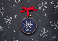 Stitched Snowflake Ornament - Get the how-to on the @Etsy blog.