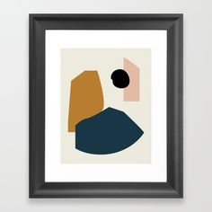 Shape Study - Lola Collection Framed Art Print by Mpgmb - Scoop White - Minimalist Artwork, Unique Wall Decor, Cartoon Pics, Abstract Wall Art, Beautiful Paintings, Framed Art Prints, Vintage Posters, Fall Decor, Gallery Wall