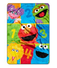 This Sesame Street Throw Blanket by Sesame Street is perfect! #zulilyfinds