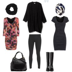 """""""Winter to Spring- The Tee Dress"""" by vfriedman on Polyvore"""