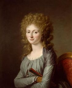 Adélaïde Labille-Guiard (Paris 1749 - Portrait of the Duchesse d'Aiguillon 28 by 23 in.