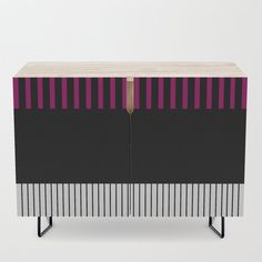 Colour Pop Stripes - Pink Credenza by laec Colour Pop, Color, Office Cabinets, Credenza, Cleaning Wipes, Stripes, Storage, Pink, Furniture