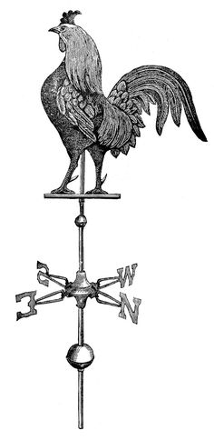 Request Day - Rooster Weather Vane, Gramophone, Elk, Running Man - The Graphics Fairy
