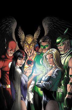 Hawkman and the Justice League by Michael Turner Héros Dc Comics, Dc Comics Characters, Fun Comics, Aquaman, Comic Book Heroes, Comic Books Art, Justice League, Superman, Caricature