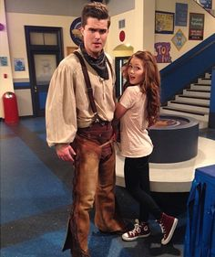 "Photo: Kelli Berglund On The Set Of ""Lab Rats"" With Spencer Boldman November 18, 2013"