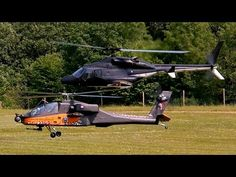 GIGANTIC RC MODEL AIRWOLF BELL-222 AND AH-64 APACHE COMBAT IN THE AIR