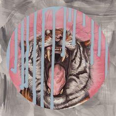 Tiger translate. Painting by Henrietta Harris.