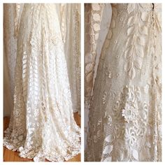 Rare Victorian Irish Crochet Lace Gown / Ivory / by WhynaughtShop