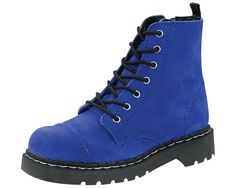 Cobalt Blue Suede Anarchic Boots