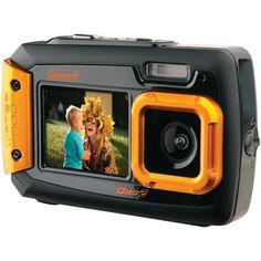 Coleman Dual-screen Waterproof Digital Camera (red) megapixel digital zoom VGA video resolution wide-angle lens back LCD screen front LCD screen Waterproof to Shock-resistant to . Best Digital Camera, Best Camera, Digital Cameras, Digital Slr, Camcorder, Camera Pouch, Camera Case, Camera Tripod, Compact