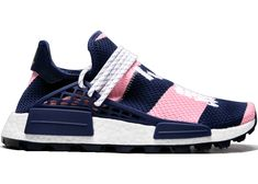 Buy and sell authentic adidas NMD Hu Pharrell x Billionaire Boys Club Navy Pink shoes and thousands of other adidas sneakers with price data and release dates. Adidas Nmd, Adidas Sneakers, Shoe Releases, Knit Shoes, Billionaire Boys Club, Blue Accents, Navy Pink, Nike, Stuff To Buy
