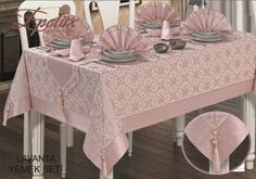 visual result of dining tablecloth models – Table Ideas Dining Table Cloth, Table Linens, Dining Tables, Sewing Paterns, Linen Bedroom, Table Set Up, Table Covers, Dinner Table, Vanity Bench