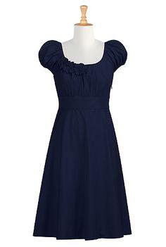 basic navy blue dress
