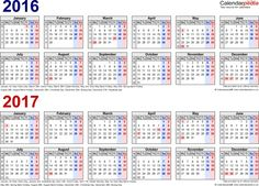 two year calender