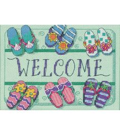 Dimensions Welcome Mat Mini Counted Cross Stitch Kit