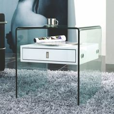 Best 2 end table trends to try at home. Accent your bedroom, living room and couch with these multi-functional furniture pieces. Shop storage solutions like mirrored and acryllic nightstands and end tables. For more table inspiration go to Domino. White End Tables, Sofa End Tables, Bedside Tables, Acrylic Nightstand, White Nightstand, Multifunctional Furniture, Table Dimensions, Bedroom Styles, Head Boards