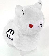A super cute, limited edition, Albino version of our Zombie Alpaca! Kawaii Plush, Cute Plush, Kawaii Alpaca, Kawaii Goth, Alpacas, Cute Stuffed Animals, Cute Animals, Tasty Peach Studios, Alpaca Plushie