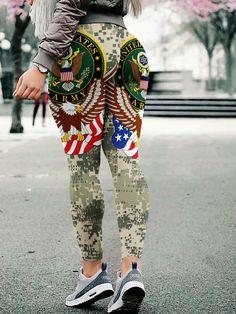 6db4a87f5f438 23 Best army leggings images | Army leggings, Plus Size Leggings ...