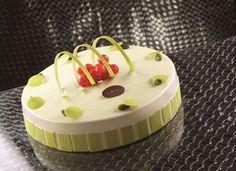 Torta alla vaniglia e pistacchio Unique Desserts, Gourmet Desserts, Sweet Desserts, Plated Desserts, No Bake Desserts, Mirror Glaze Cake, Mousse Cake, Pie Cake, Dessert Bread