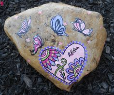 Pretty little butterflies with a heart design I saw on the internet, loving the colors!  So Pretty!