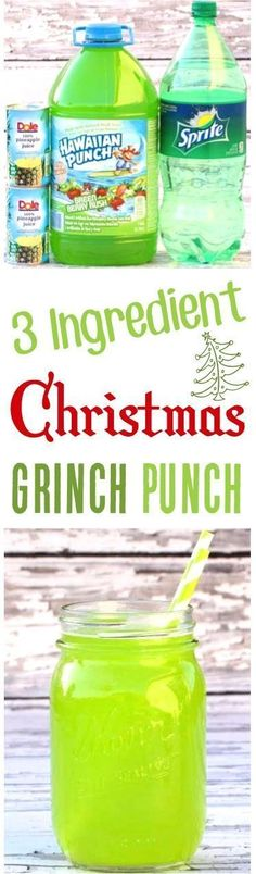 (Christmas Grinch Punch) (DIY Thrill) Easy Party Punch Recipes for Kids! This festive 3 Ingredient sparkling Green Grinch Punch is the perfect addition to your holiday and Christmas parties. Quick to make and SO delicious! Christmas Drinks, Holiday Drinks, Party Drinks, Christmas Treats, Holiday Treats, Holiday Recipes, Christmas Parties, Christmas Diy, Holiday Punch