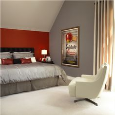 Amazing Red And Grey Bedroom Fancytecture
