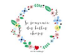 Bannière de blog à télécharger : couronne de fleurs - Vie de Miettes