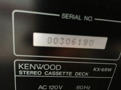 Kenwood double cassette deck kx-69w