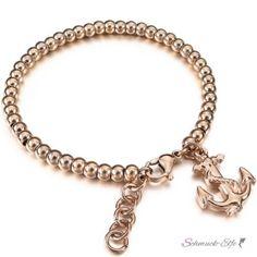 Armband Anker AHOI aus 316 L Edelstahl mit Rosegold...