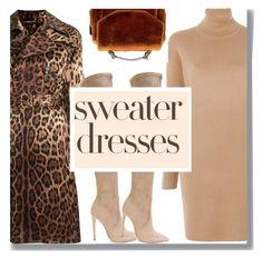 """Sweater Dresses"" by drigomes ❤ liked on Polyvore featuring MICHAEL Michael Kors, Dolce&Gabbana, Gianni Renzi and Maje"