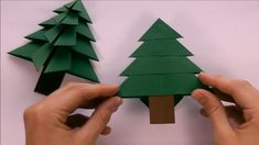 25 Easy Origami Christmas Tree List To Make Your Home Look Amazing Origami Christmas Tree Card, Origami Tree, Origami Ornaments, Christmas Paper Crafts, Christmas Tree Ornaments, Christmas Crafts, Diy Origami Cards, Origami Youtube, Origami Simple