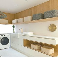 Attractive Classy Laundry Room Update Showing Off Minimalist & Modern Interior D. Commercial Interior Design, Interior Modern, Modern Interior Design, Modern Laundry Rooms, Laundry Room Storage, Laundry Room Design, Küchen Design, Bathroom Interior, Modern Minimalist