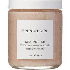 French Girl Organics Rose & Verveine Sea Polish Scrub (506.500 IDR) ❤ liked on Polyvore featuring beauty products, bath & body products, body cleansers, beauty, makeup and filler
