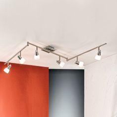 Flexible Deckenleuchte MIRTEL - 6-flammig Jetzt bestellen unter: https://moebel.ladendirekt.de/lampen/deckenleuchten/deckenlampen/?uid=86167c87-b508-581b-9455-9663c019545e&utm_source=pinterest&utm_medium=pin&utm_campaign=boards #deckenleuchten #nickel #lampen #deckenlampen #edelstahl Bild Quelle: www.lampenwelt.de