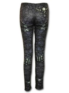 """Women's """"Waisted Corset"""" Allover Leggings by Spiral USA 