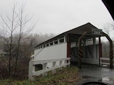 Jackson's Mill Covered Bridge - 1875, Located in Breezewood, PA, Bedford County.