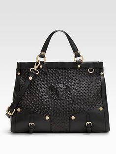 Love this Versace bag with medusa! Versace Bag, Versace Handbags, Luxury  Handbags, c2c246d821