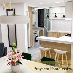 Diseño para remodelación de cocina conjunto Pontevedra. 💫  #diseñointeriores #render #remodelaciondeinteriores #cocinaintegral Table, Furniture, Home Decor, Interiors, Blue Prints, Decoration Home, Room Decor, Tables, Home Furnishings